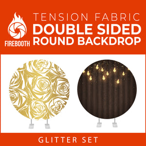 Glitter Set-38 Double Sided Round Tension Fabric Photo Booth Backdrop