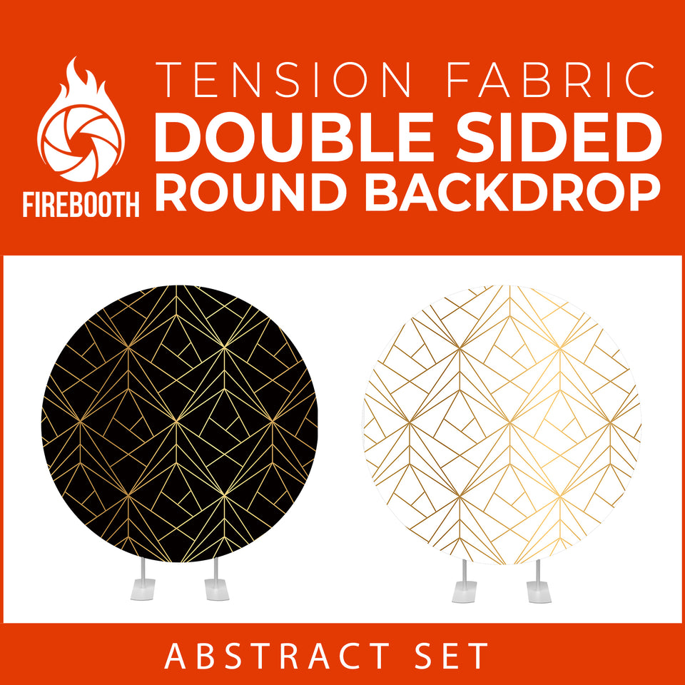 Abstract Set-1 Double Sided Round Tension Fabric Photo Booth Backdrop
