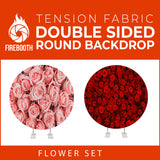 Flower Set-23 Double Sided Round Tension Fabric Photo Booth Backdrop