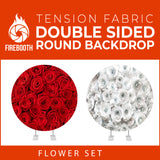 Flower Set-27 Double Sided Round Tension Fabric Photo Booth Backdrop