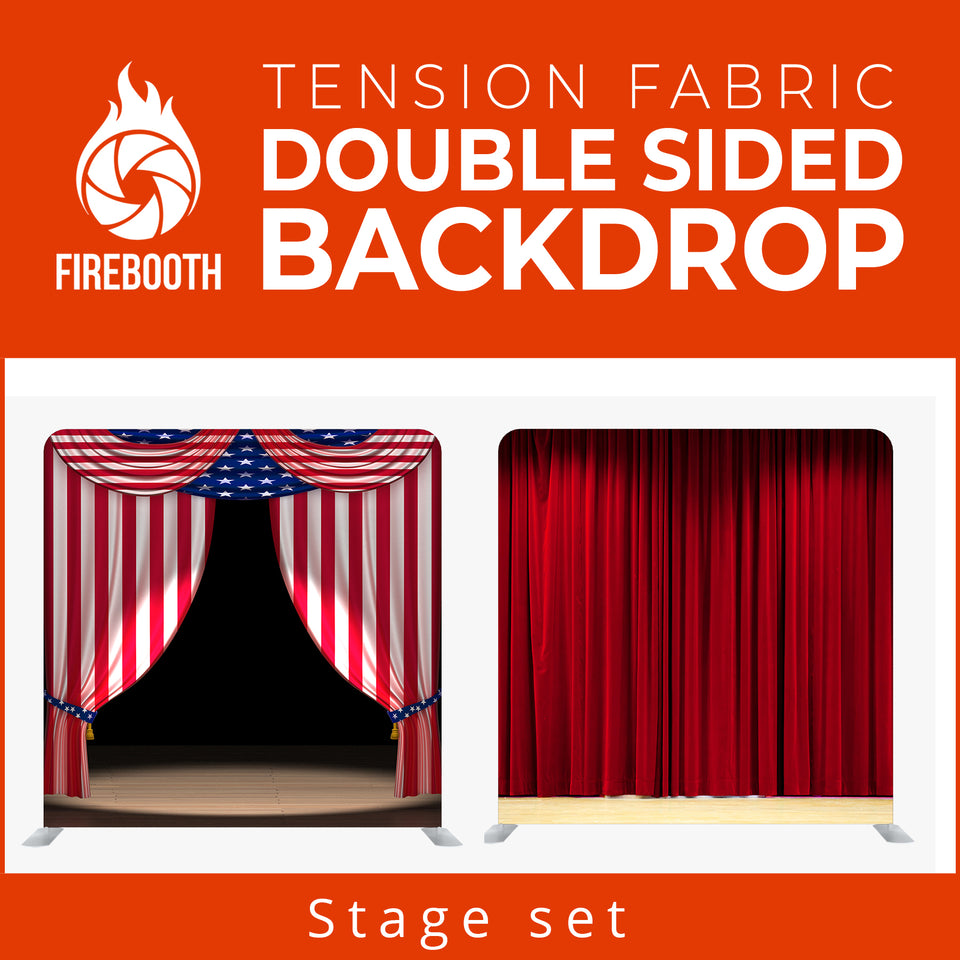Stage Set1 Double Sided Tension Fabric Photo Booth Backdrop