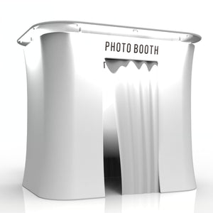 White Tension Fabric Photo Booth Enclosure with LED Roof Top