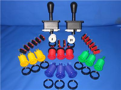 High Quality Joystick Pack 2 x joysticks 14 buttons