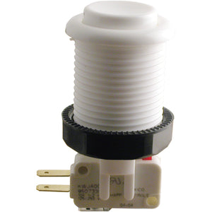 Happ White Pushbutton with Horizontal Microswitch