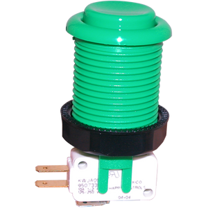 Happ Green Pushbutton with Horizontal Microswitch