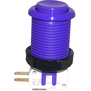 Happ Purple Pushbutton with Horizontal Microswitch