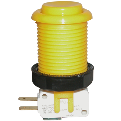 Happ Yellow Pushbutton with Horizontal Microswitch