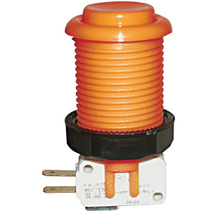 Happ Orange Pushbutton with Horizontal Microswitch