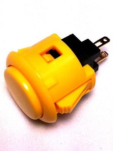 Sanwa OBSF-24 24mm Pushbutton, Yellow