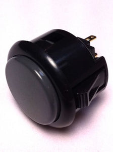 Sanwa OBSF-30, 30mm Pushbutton, Black-Grey