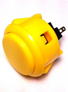 Sanwa OBSF-30, 30mm Pushbutton, Yellow