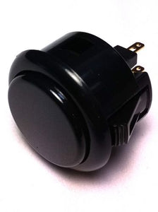 Sanwa OBSF-30, 30mm Pushbutton, Black