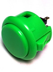 Sanwa OBSF-30, 30mm Pushbutton, Green