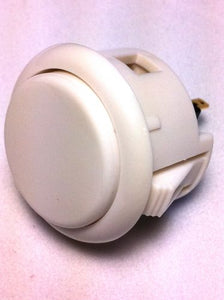 Sanwa OBSF-30, 30mm Pushbutton, White