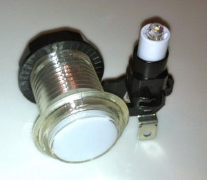 Clear-White Illuminate push button with led light and micro switch