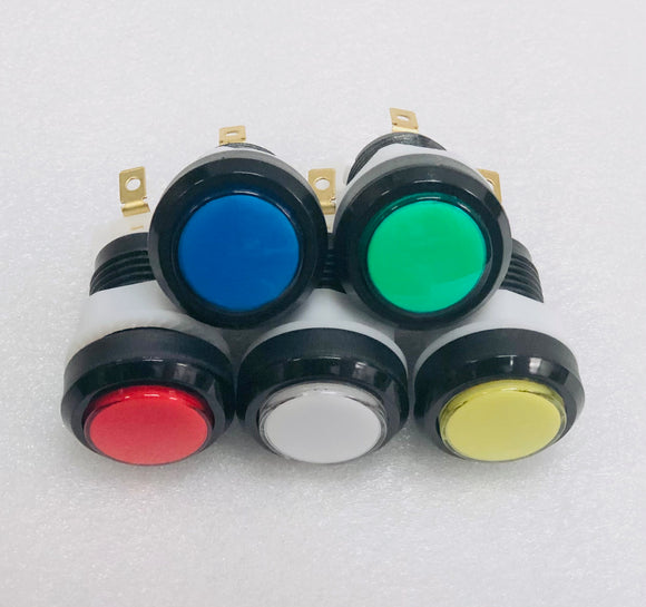 Black Case LED Arcade Button, Choose Your Colour