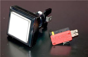 Square Button With LED Light and Micro Switch  Clear