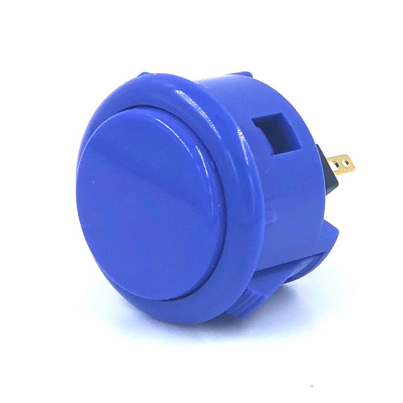 Sanwa OBSF-30, 30mm Pushbutton, Dark Blue