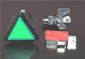 Triangle Button With LED Light and Micro Switch  Green