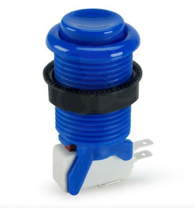Happ Blue Pushbutton with Horizontal Microswitch