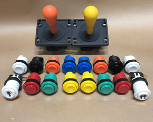 Arcade Pack 4- Happ Style Competition Joysticks & Ausleaf Buttons