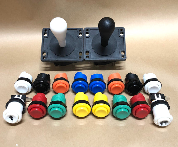Arcade Pack 2- Happ Style Competition Joysticks & Ausleaf Buttons