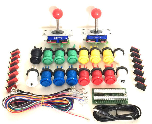 I-Pac 2, Joystick Pack, Buttons and wiring