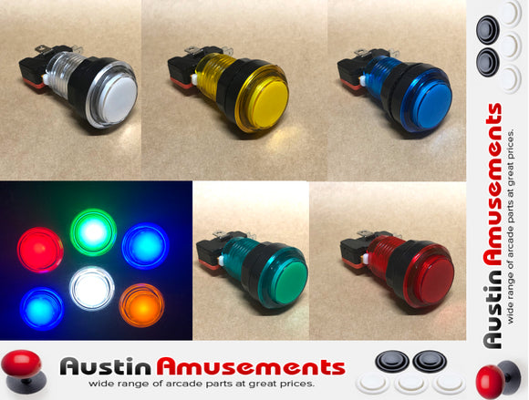 *LED Arcade Button with Micro Switch, Choose Your Colour