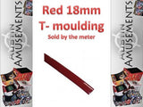 Red 18mm T-Moulding, Sold by the metre