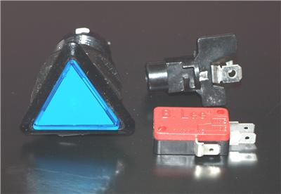 Triangle Button With LED Light and Micro Switch  Blue