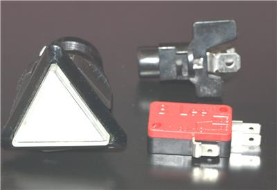 Triangle Button With LED Light and Micro Switch  Clear