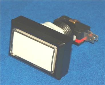 Rectangle Button with LED light and micro switch Clear