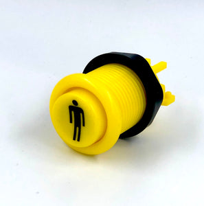 Yellow American Style Push Button  Player 1