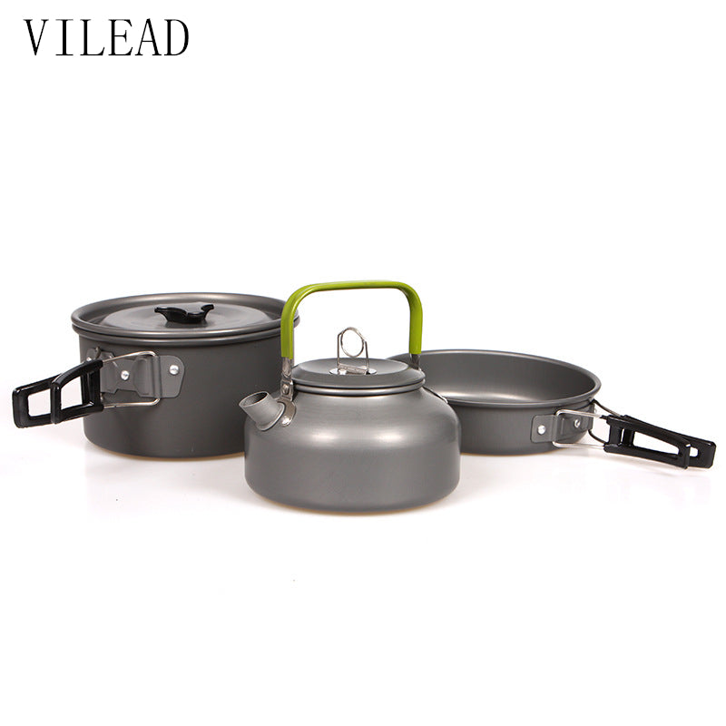 VILEAD Camping Cookware 3pc Set