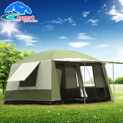 Ultra Large Family Tent: 2 Rooms and a Hall, Sleeps up to 12