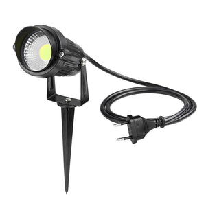 EU Plug 5W COB LED Lawn Light Garden Floodlight