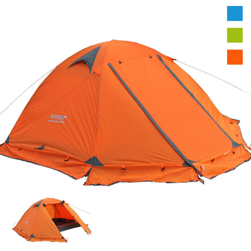 2-4 Person Double Layer 4 Season Tent with Skirt