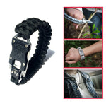 Multi Functional EDC Tactical Parachute Rope Bracelet With Knife Buckle