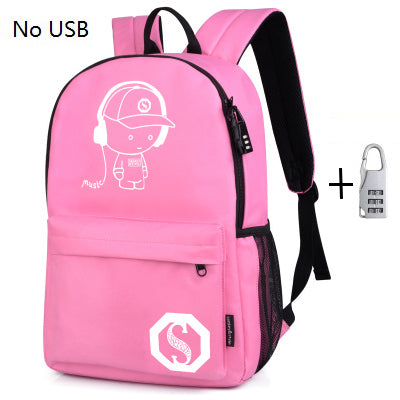 Fashion Backpack w/ USB Charger