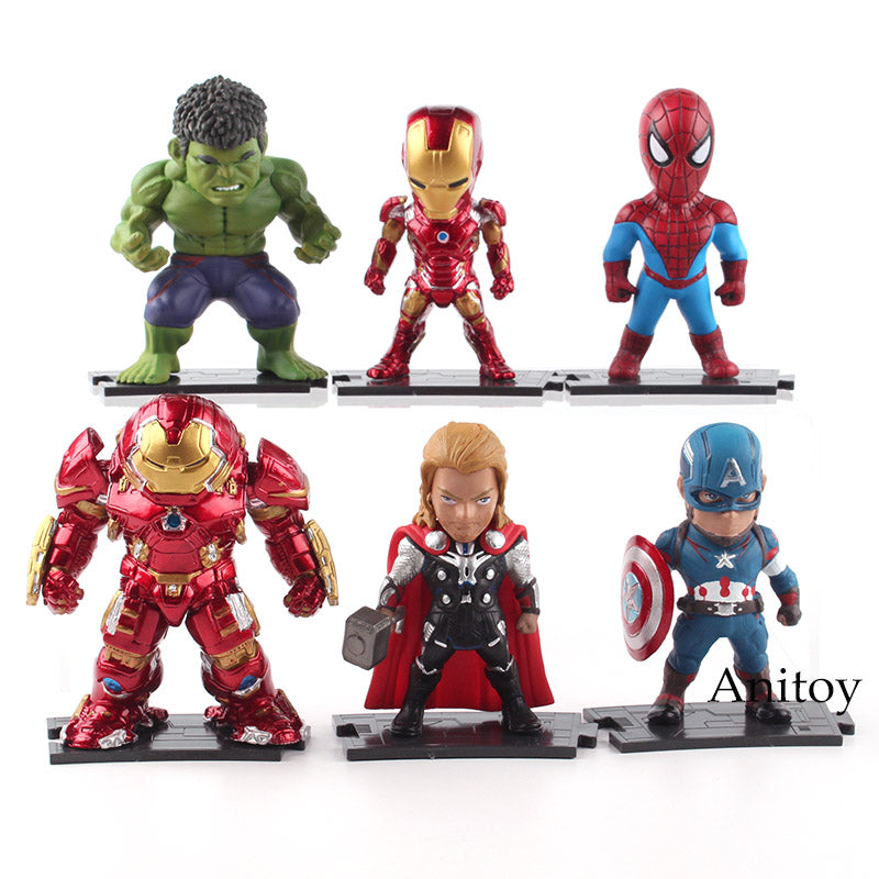 Marvel  Super Heroes  PVC Models 6pcs/set 10cm 8-9.5cm KT4796