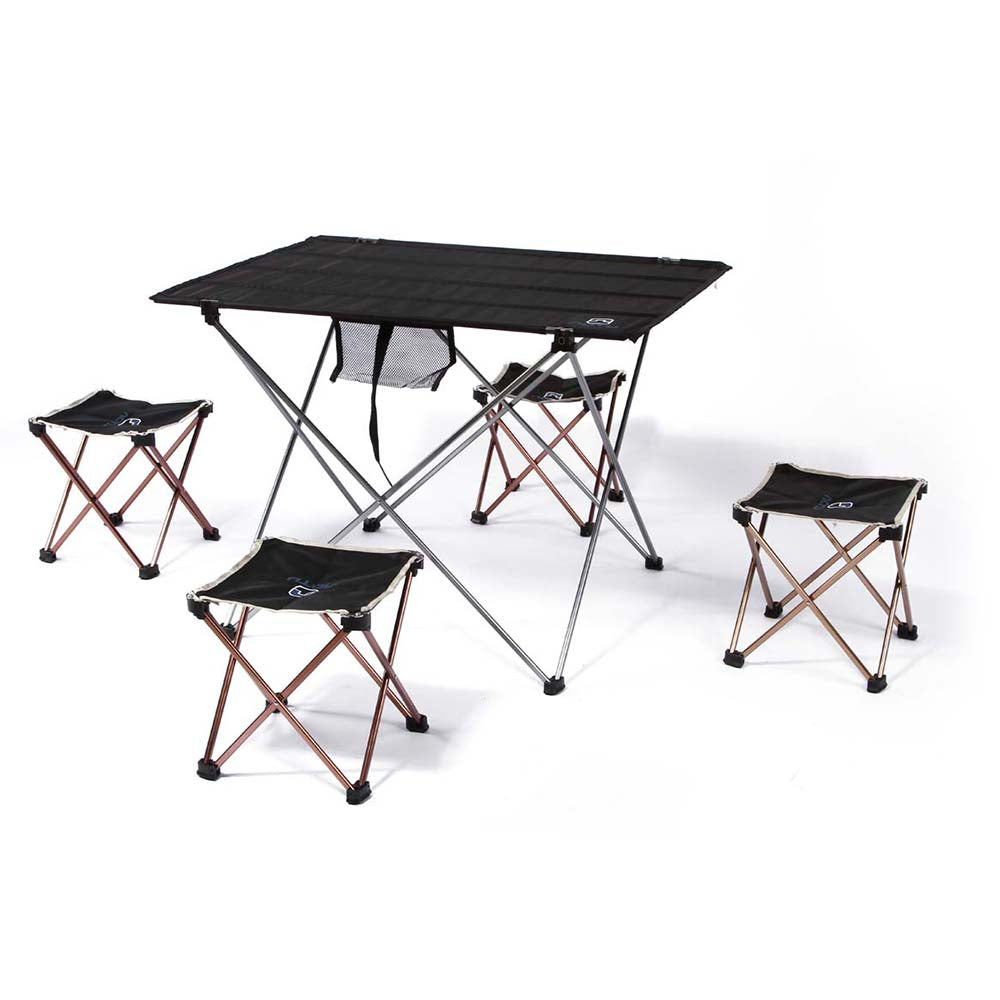iKayaa 7075 Aluminium Camp Table with 4 Seats