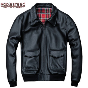 Men's 100% Leather Air Force Flight Jacket