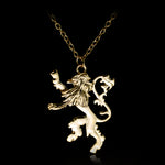 Game Of Throne Lannisters Lion Pendant Necklace