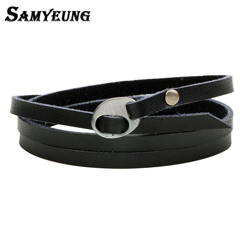 Vintage Mens Leather Wrap Bracelets