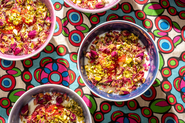 Muhalabiyya — Milk Custard With Rose & Pistachio