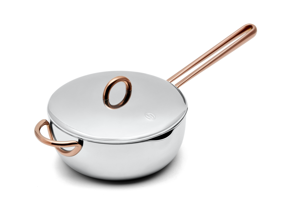 Saucy stainless steel saucier with lid