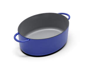 Enameled cast-iron Dutch oven in blueberry blue - no lid