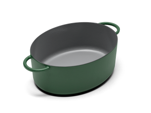 Enameled cast-iron Dutch oven in broccoli green - no lid