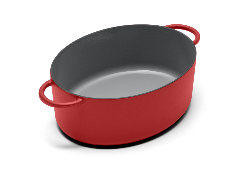 Enameled cast-iron Dutch oven in marinara red - no lid