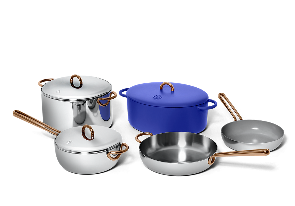 Family Style cookware set - Blueberry blue